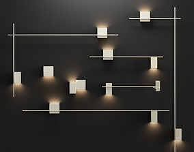 3D model Vibia Structural wall lamp