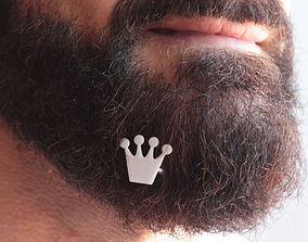 Crown for beard - front wearing 3D printable model