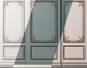 Wall molding 20 Boiserie classic panels 3D asset