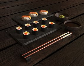 3D asset Sushi Set