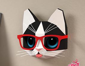 3D model Kitten with glasses