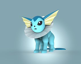 miniatures 3D print model Vaporeon Pokemon eevee evolution