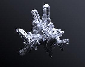 3D quartz crystal clusters
