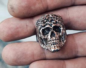 3D print model Ring Skull Jesus