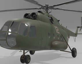 3D model Mil mi 8 low poly animated
