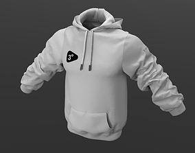 3D asset Sports hoodie