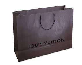 Designer Shopping Bag - Louis Vuitton 3D model