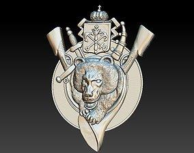 3D print model Badge Animal Bear