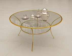 3D model low-poly Golden table