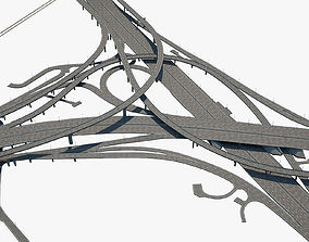 lamp Highway Road Junction 3D model