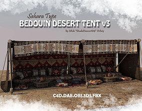 3D model Bedouin Desert Tent v3 house