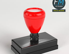 Pre inked rubber stamp 3D model