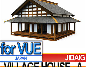 Japanese Village House Block A 3D