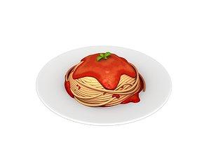 Spaghetti cartoon 3D model