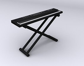 3D model Music keyboard synthesizer lowpoly