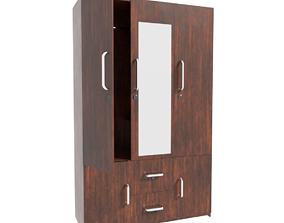 3D asset Wooden Wardrobe