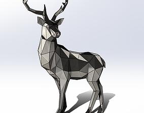 3D Polygon model Sheet metal Deer met 2000x1560x650mm