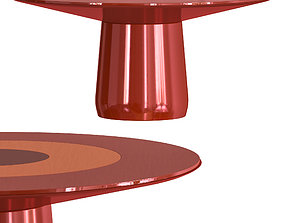 3D model Baleri ROUNDEL table red