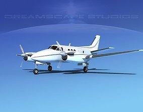 Beechcraft King Air C100 V14 3D model
