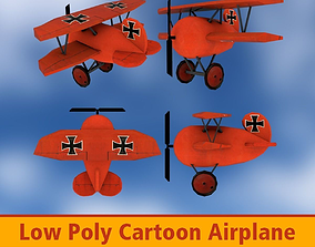 3D model low-poly Airplane Cartoon