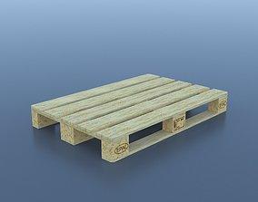 Clean Euro-palette 3D model low-poly