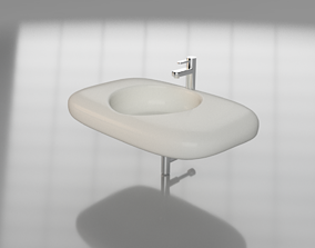 3D asset low-poly Washbasin