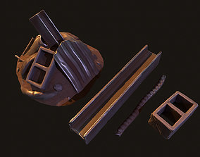Stylized Junk Material And Models game-ready