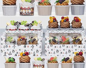 Cupcake set 3D