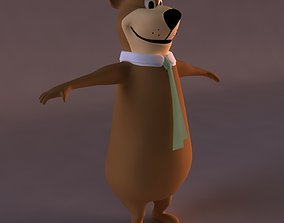 Yogi Bear 3D character low-poly