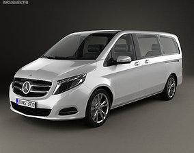 3D model Mercedes-Benz V-Class 2014