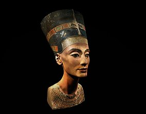Nefertitis bust like in the museum 3D print model