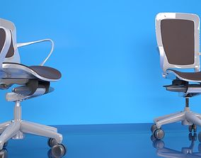 3D Studio Scene with Office Chairs