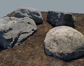 3D model Photo-Realistic Boulders 4-Pack A