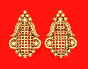 Tops earrings 3D print model silver