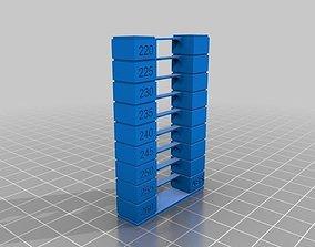 Temp Tower PLA - PETG - ABS 3D print model