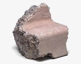 Concrete Chunk 01 - 16K Scan 3D model