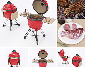 Kamado grill 3D model