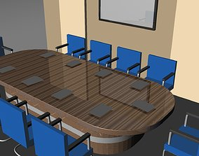 Office room Low-poly 3D model Part 2 realtime