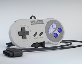 Snes Controller Classic game 3D model