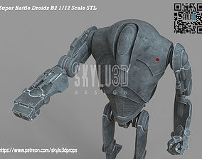 B2 Super Battle Droid Black Series Scale 3d print ready