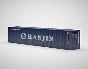 Cargo Container - HANJIN - Contenedor de carga 3D