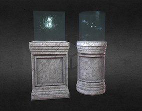 3D asset Game-Ready PBR Pedestal Set