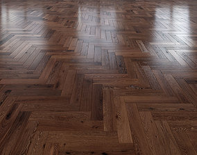 3D Oak Herringbones dark floor 3