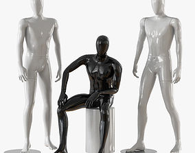Three male mannequins 21 3D model