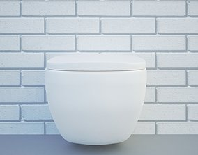 antonio toilet 3D model game-ready