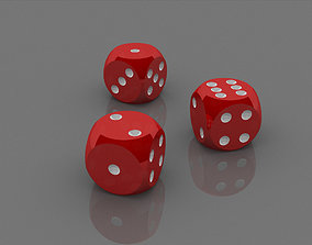 3D model Polished Red Dices
