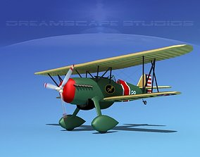 3D model Curtiss P-6E Hawk V05