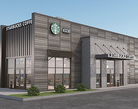 3D model Starbucks coffee shop