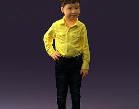 children Boy in yellow tshirt 0664 3D Print Ready