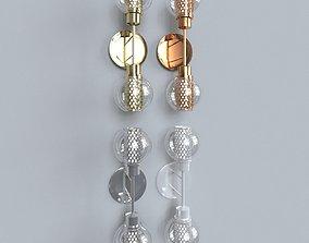 light 3 bulbs 3D model